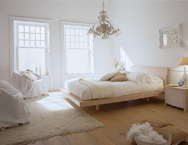 sunny bedroom, white room