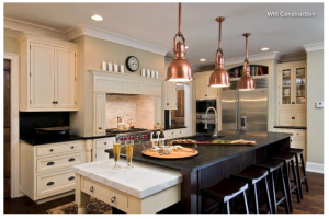 create a functional and stylish kitchen, countertop, kitchen, kitchen island, kitchen renovation, metals, mixed metals, copper, pendants
